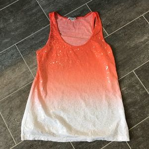Sequin Ombré small tank top